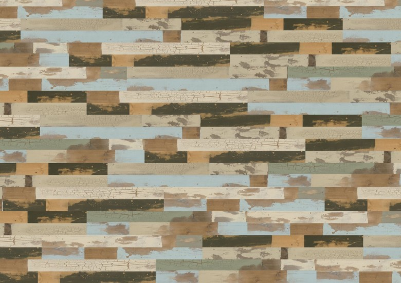 Patchwork - Wineo 600 Wood klick Vinyl Planke
