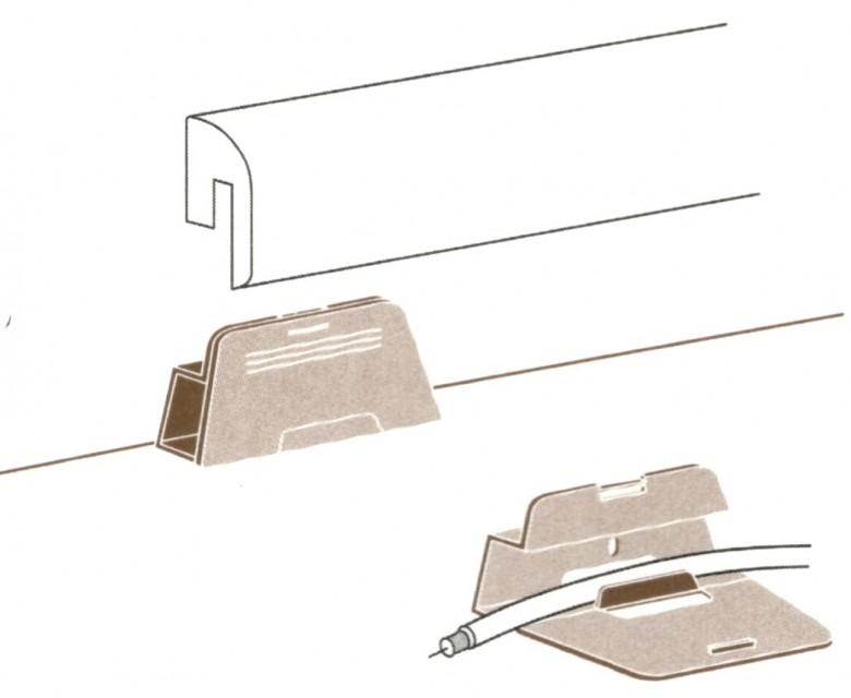 Parador Leistenclip für Sockelleisten SL2, HL1, HL2 und HL3