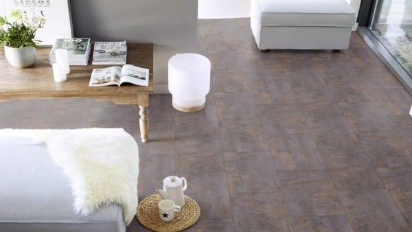 Verone Medium Grey Gerflor Texline HQR - PVC-Boden Fliesenoptik grau