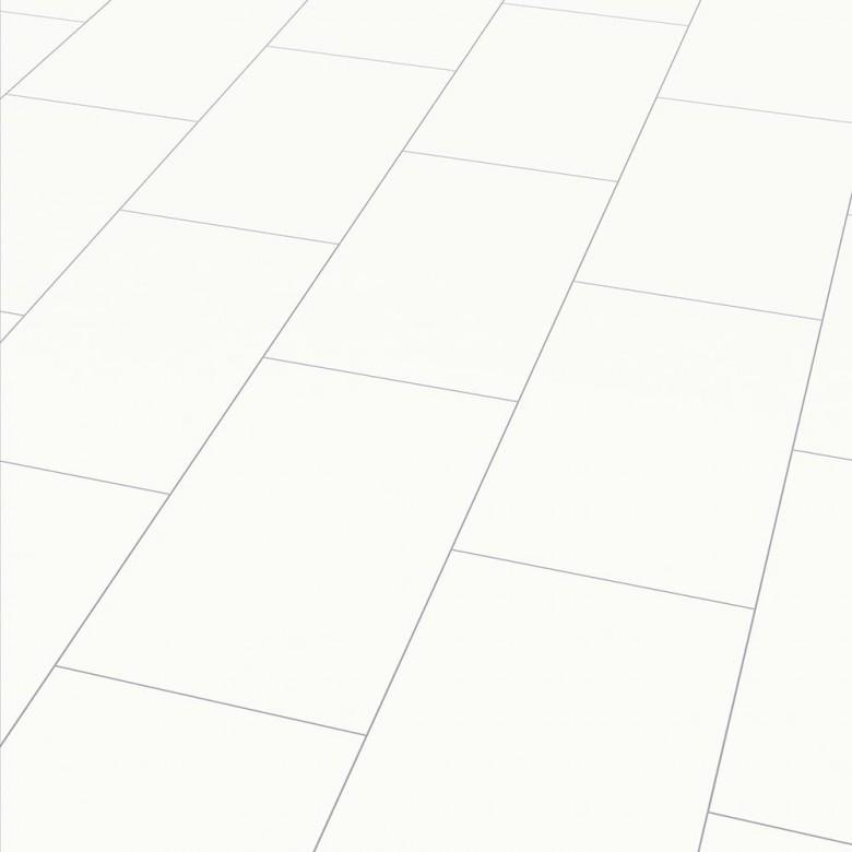 Color white Arktis Elesgo Maxi V5 - Laminat Fliesenoptik Hochglanz