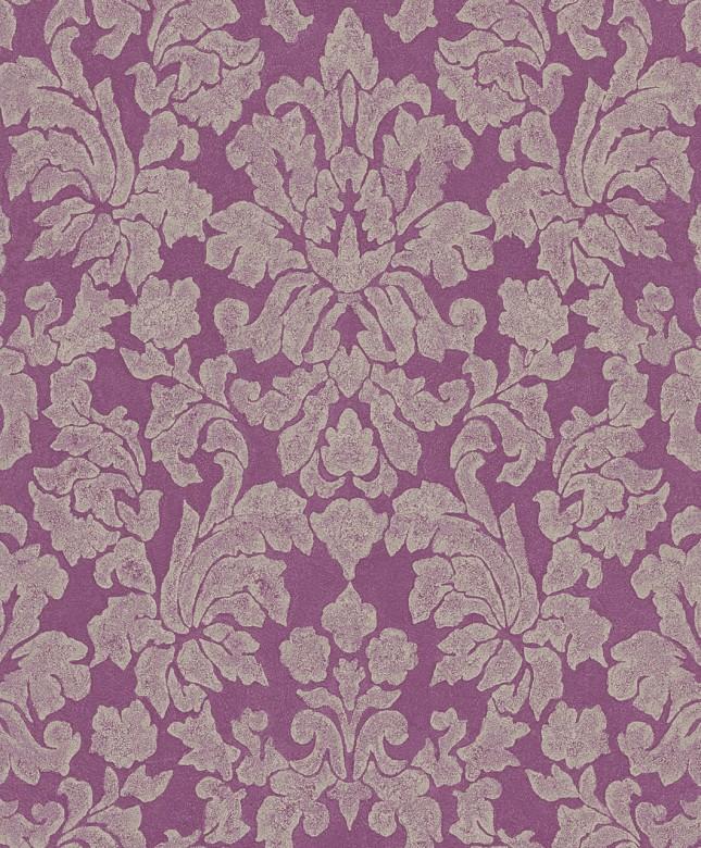 Tapete Barock Violett   - Rasch Vlies - Floralprint