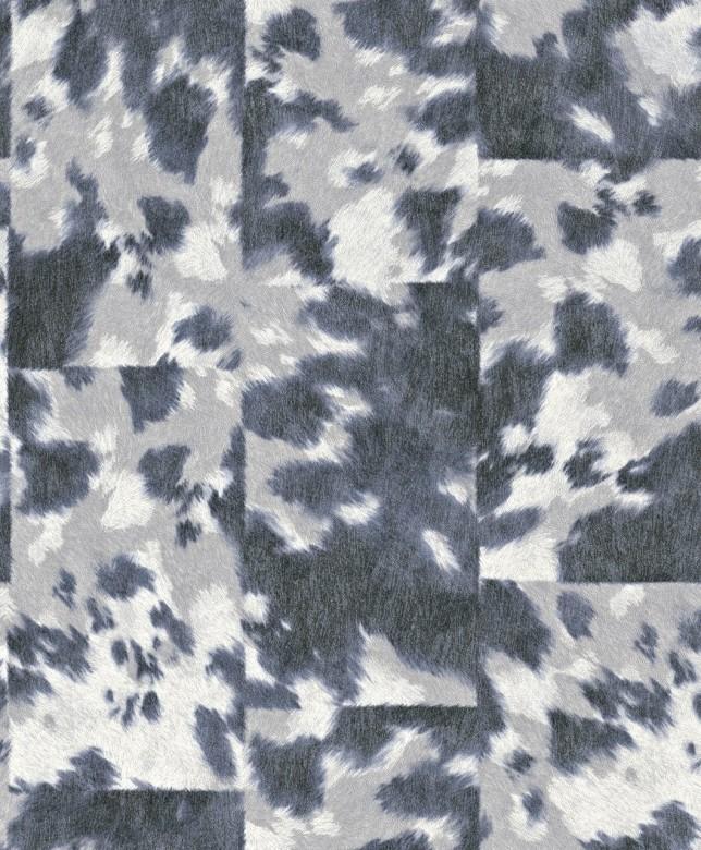 Tierfell Grau Weiß - Rasch Vlies - Tapete Tierprint