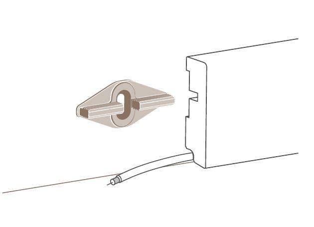 Parador Leistenclip für Sockelleiste SL6