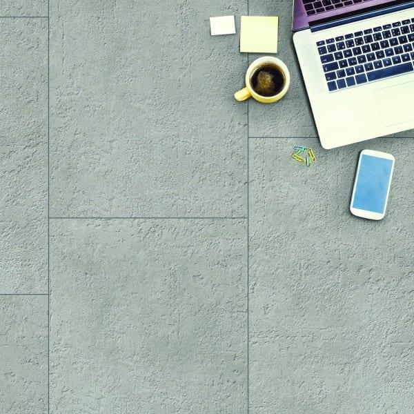 Cement Skagen grau Vinylan KF plus object - Vinylboden Fliesenoptik