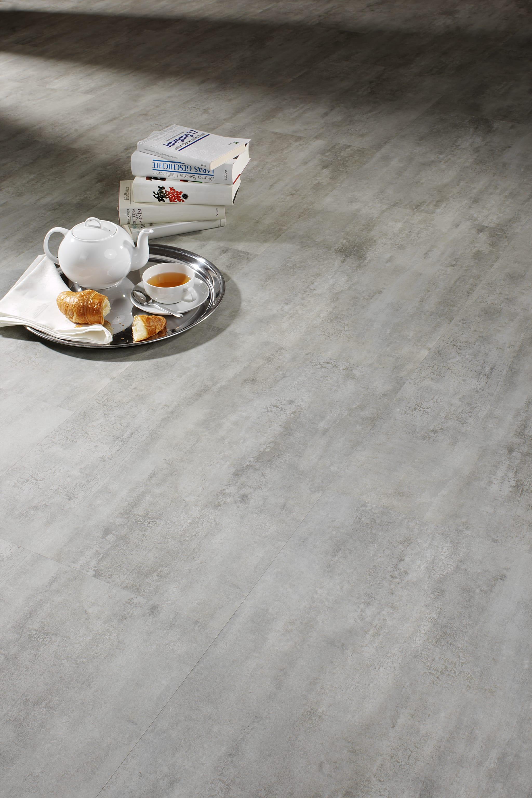 betonoptik dekor vinyl laminat klick hdf vinylboden raumtrend hinze seite 1. Black Bedroom Furniture Sets. Home Design Ideas