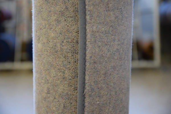 Grauer Velours-Teppich 1,15m x 2m gekettelt