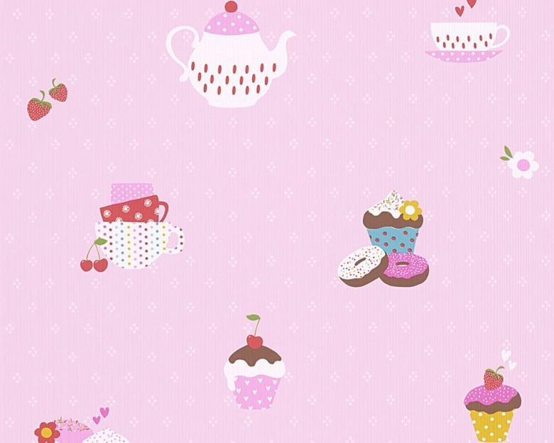Cupcake rosa Kinderwelt - A.S. Creation Papier-Tapete