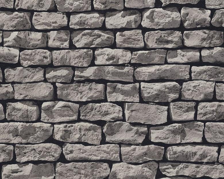 Stone Wall Grey Steinoptik- A.S. Creation Vlies -Tapete
