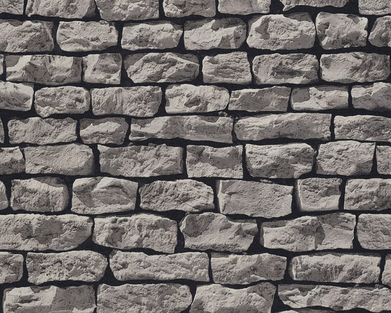 Stone Wall Grey Steinoptik- A.S. Creation Vlies -Tapete