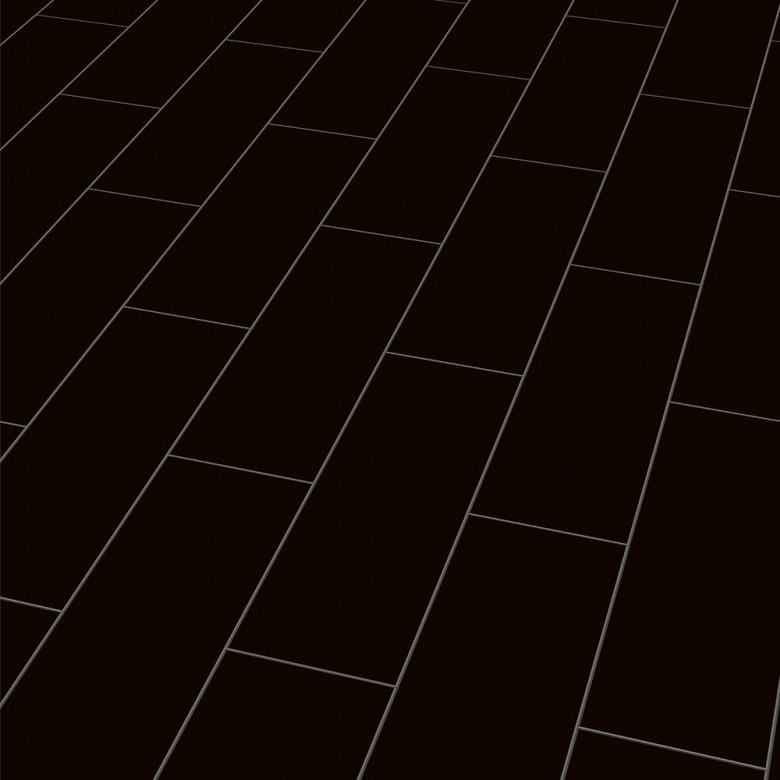 Color black Elesgo V5 - Laminat Fliesenoptik Hochglanz