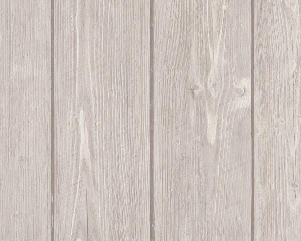 Grau Rustikal Holzoptik- A.S. Creation Vlies -Tapete