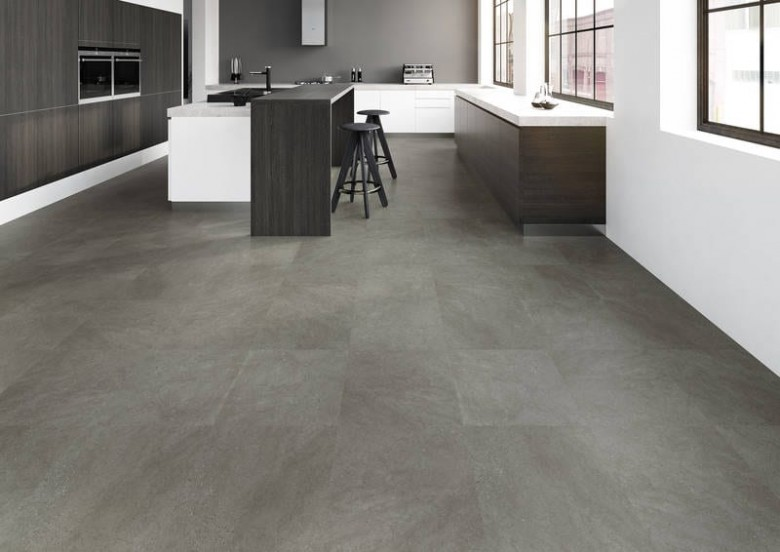 Dark Concrete Joka Design 330 Klick Vinyl Fliesen Dark Concrete