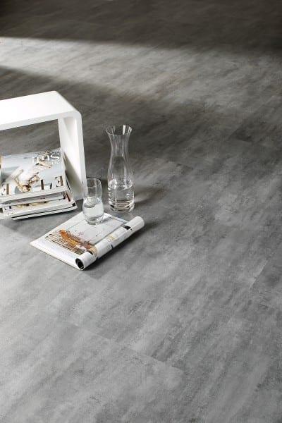 Graphit Beton  Ziro Vinylan object HDF - Vinylboden Fliesenoptik