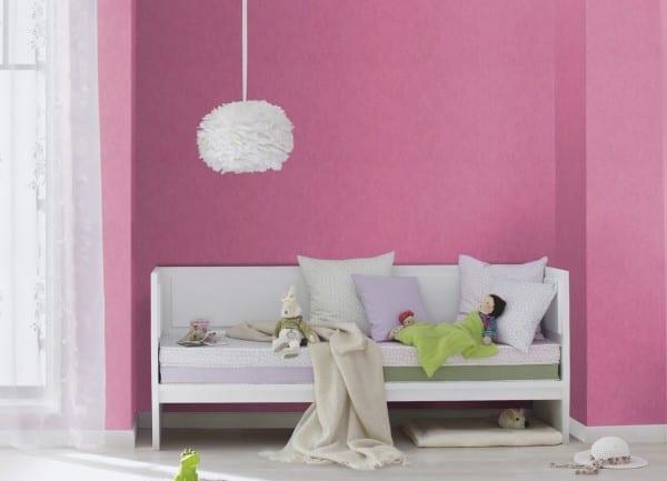 Zartes Pink - Rasch Papier Kindertapete