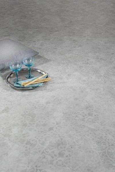 Ornament Tynset weiß Ziro Vinylan Hydro plus object - Vinylboden Fliesenoptik