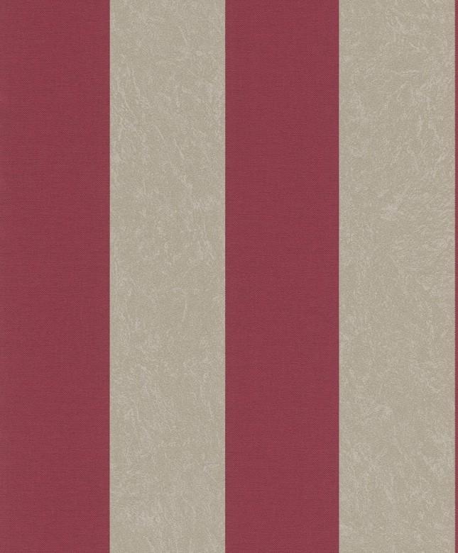 Tapete Barock Gold Rot   - Rasch Vlies - Tapete Streifenmuster