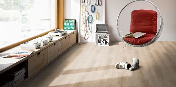 Eiche Royal hell gekälkt Holzstruktur - Parador HDF Vinyl Basic 30