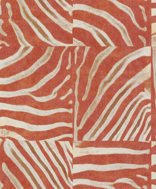 Tierfell Orange - Rasch Vlies - Tapete Tierprint Moderne