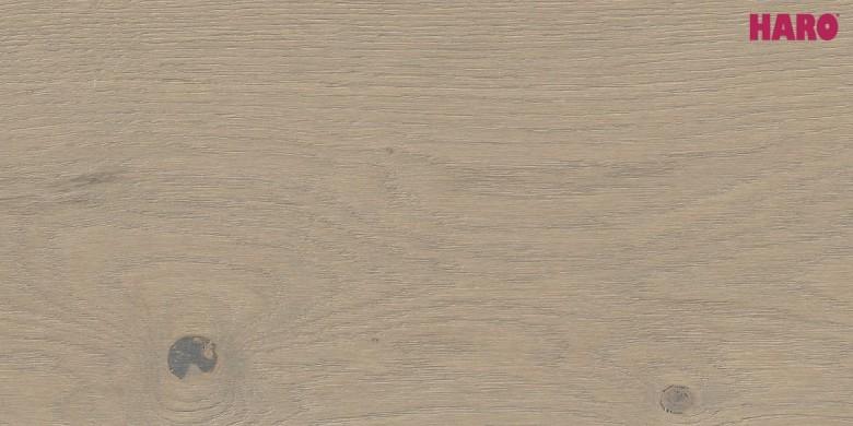 Eiche Puro grau Sauvage strukturiert 4V -  Haro Parkett Landhausdiele Serie 4000