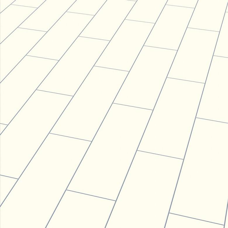 Color white Elesgo V5 - Laminat Fliesenoptik Hochglanz