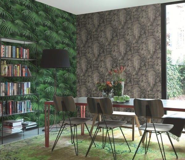 Palmen Grün - Rasch Vlies-Tapete Fototapete
