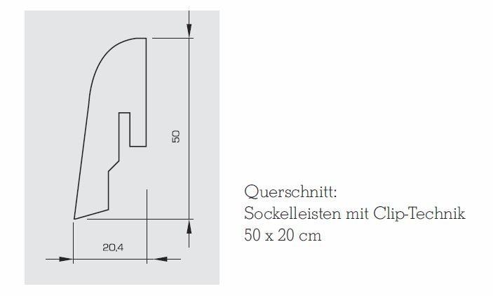 Wicanders Sockelleisten Kork-Furnier 50mm