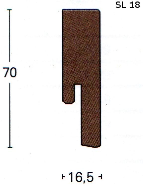 Parador Laminat Sockelleiste SL18 (4,28 €/lfm)