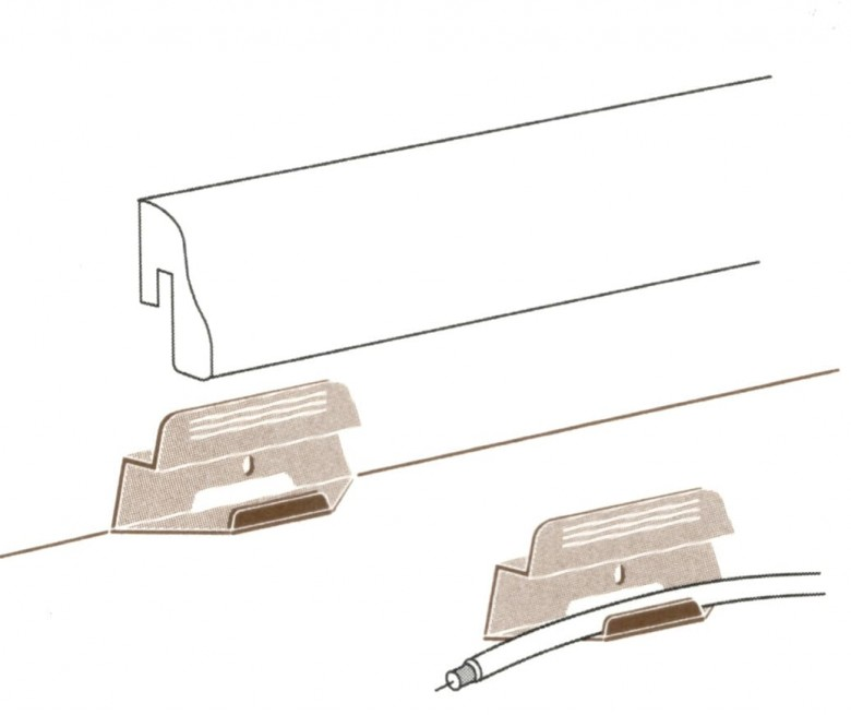 Parador Leistenclip für Sockelleisten SL4, SL18 und SL20