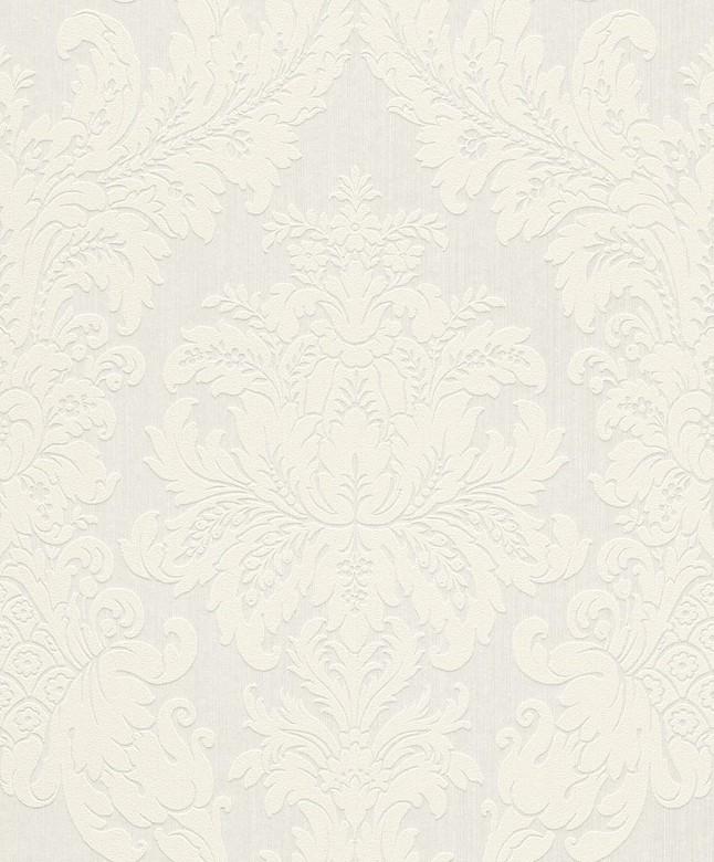 Floral weiß - Rasch Vlies-Tapete