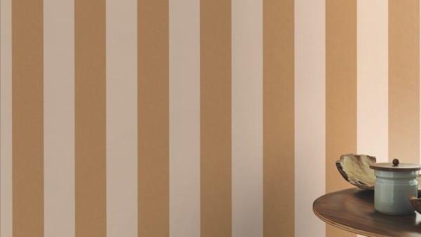 Tapete Barock Gold Braun   - Rasch Vlies - Tapete Streifenmuster