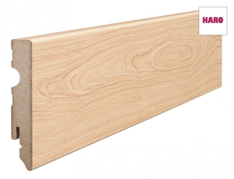 Haro Sockelleisten MDF-foliert 15 x 80 mm (Kubus) 4,35€/lfm