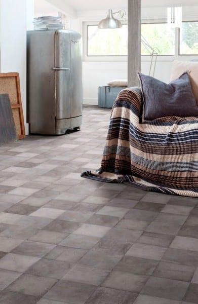 Arty Grey Gerflor Texline HQR - PVC-Boden Fliesenoptik grau