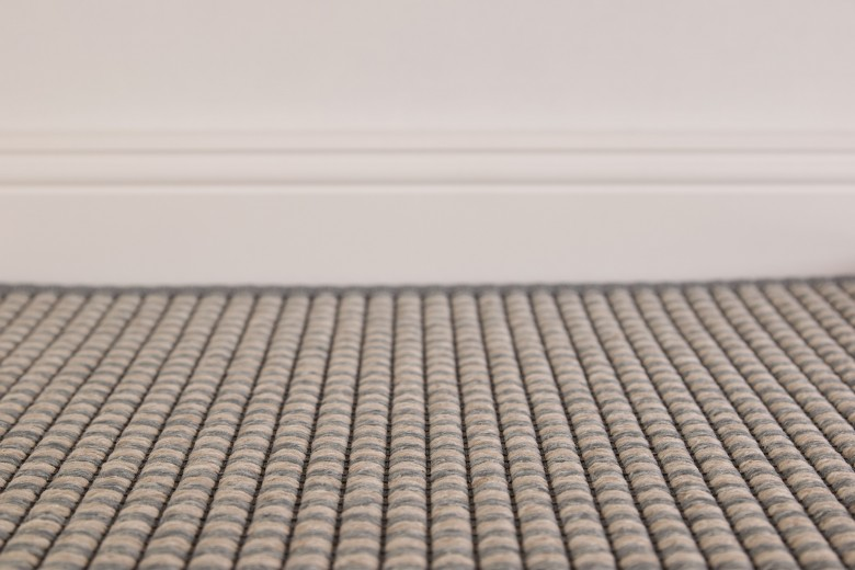 Bentzon Capri Duo Grau-Weiß 211108 - gewebter Teppichboden