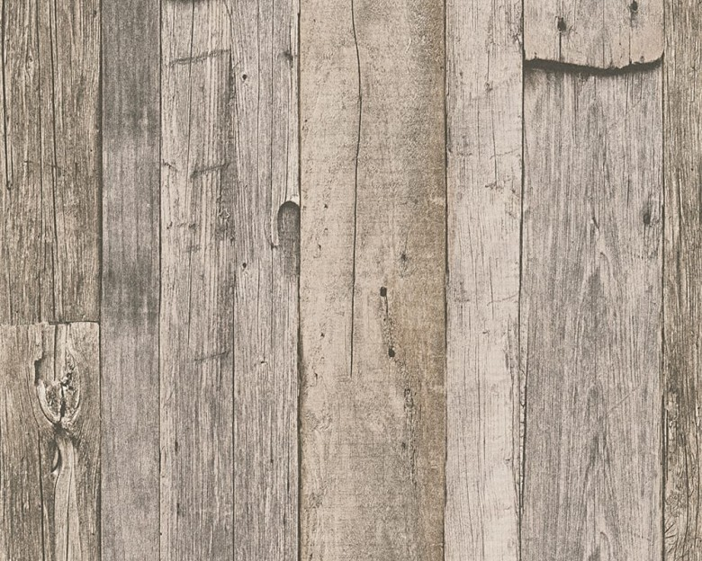 Medium Schneune Holzoptik- A.S. Creation Vlies -Tapete