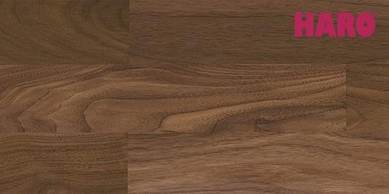 Amerik. Nussbaum Exquisit/Trend matt lackiert - Haro Parkett Schiffsboden Serie 4000