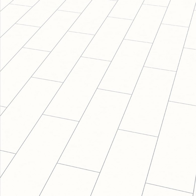 Color white Arktis Elesgo V5 - Laminat Fliesenoptik Hochglanz