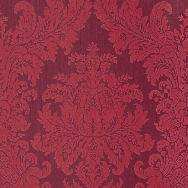 Floral rot - Rasch Vlies-Tapete