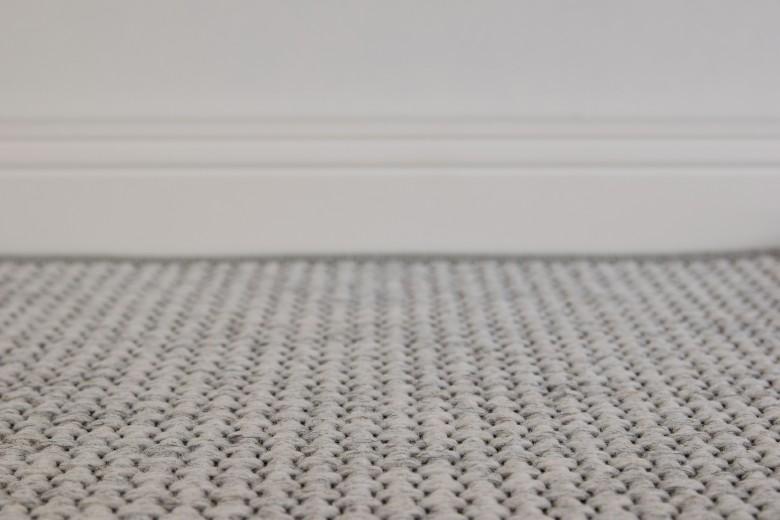 Bentzon Kolding 069011 Hellgrau - gewebter Teppichboden