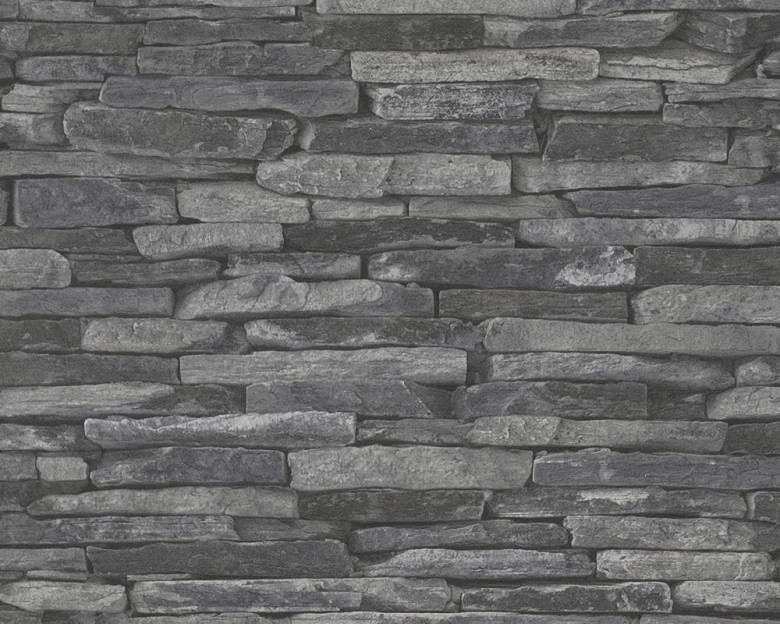 Stone Wall Dark Steinoptik- A.S. Creation Vlies -Tapete