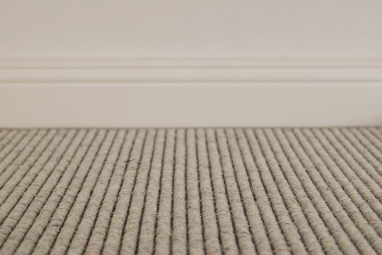Bentzon Brighton Grau-Weiß 098013 - gewebter Teppichboden