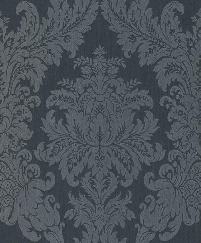 Floral blau - Rasch Vlies-Tapete