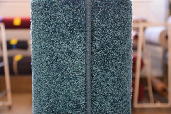 Petrol Kräuselvelours-Teppich 1,6m x 3,1m gekettelt