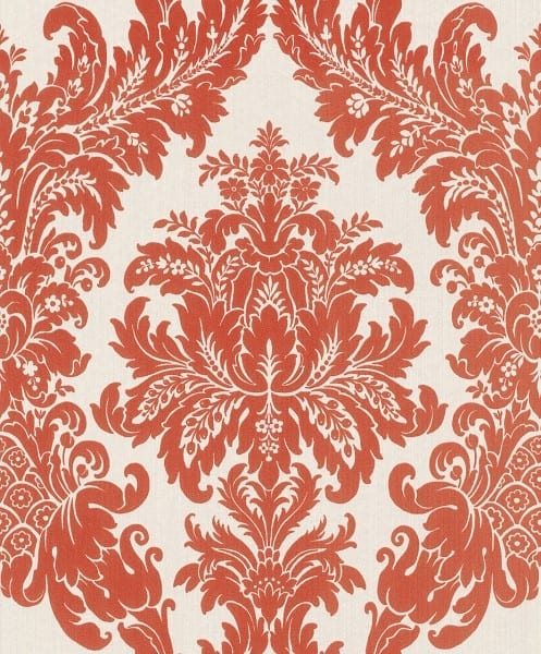 Floral orange - Rasch Vlies-Tapete
