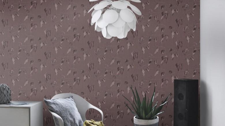 Blätter Dunkel - Rasch Vlies-Tapete Floral