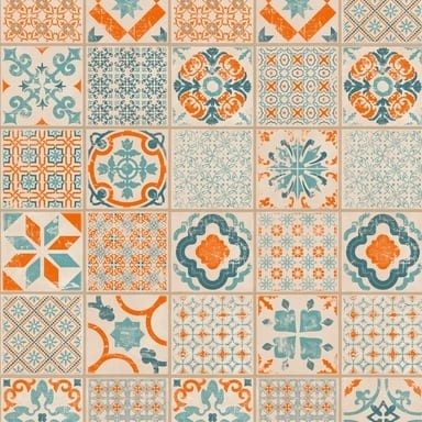 Retro Orange Blue - Tarkett Starfloor Click 30 PVC Fliesen