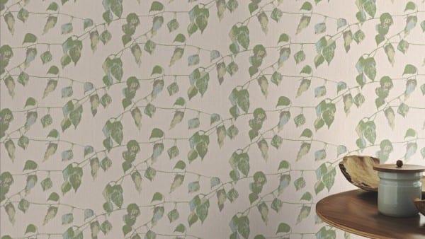 Blätter Grün - Rasch Vlies-Tapete Floral
