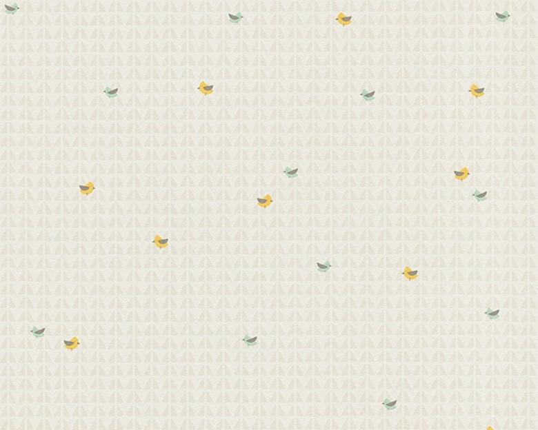 Vögelchen beige Kinderwelt - A.S. Creation Vlies-Tapete