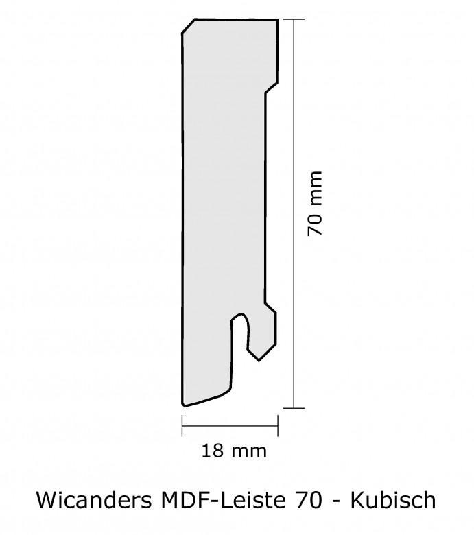Wicanders MDF-Leiste 70 Sockelleiste_Kubisch