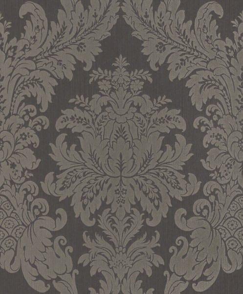 Floral grau - Rasch Vlies-Tapete