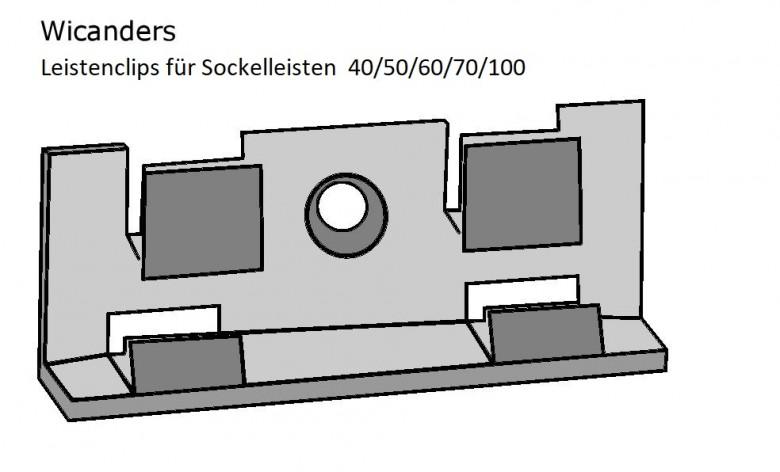 Wicanders Befestigungsclips für Sockelleisten (12 Stck./Paket)